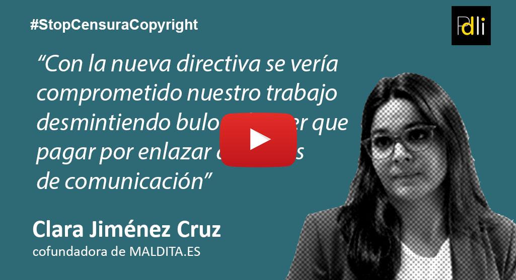 CLARA JIMÉNEZ CRUZ, periodista [VÍDEO]