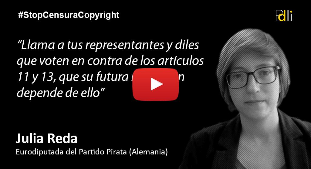 Julia Reda, Eurodiputada del Partido Pirata [VIDEO]