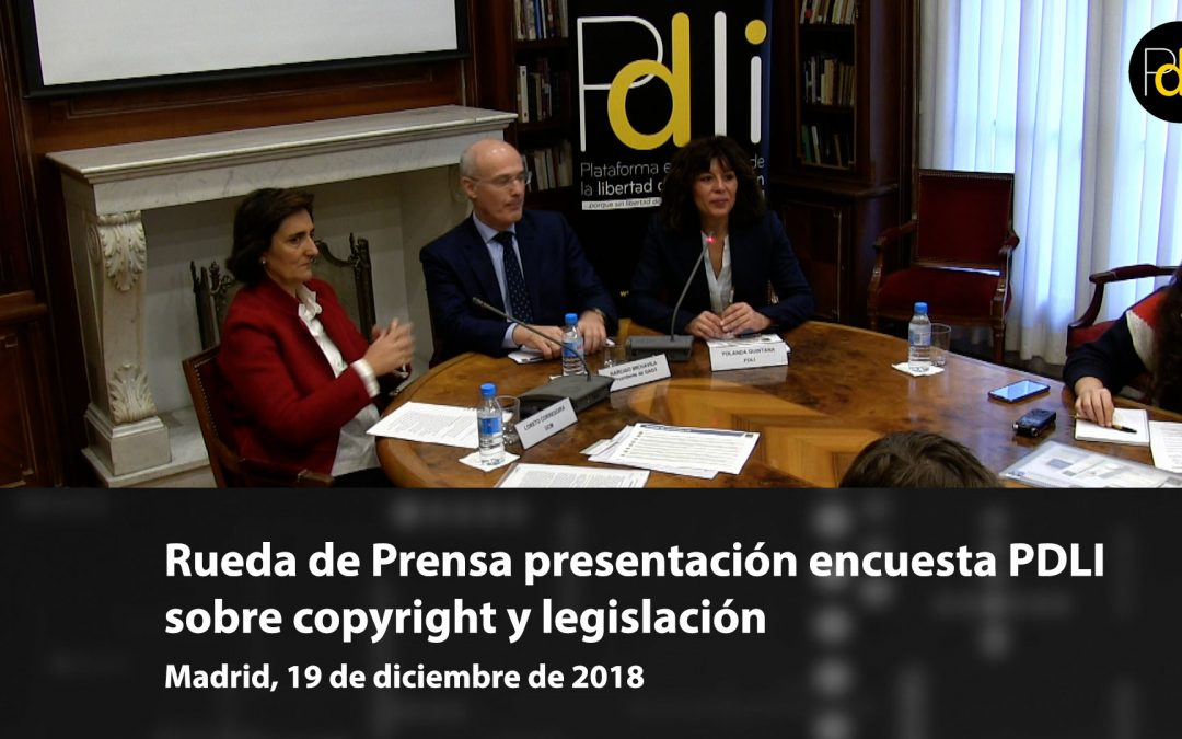 [VÍDEO] Presentación encuesta de la PDLI sobre copyright y las legislaciones de propiedad intelectual