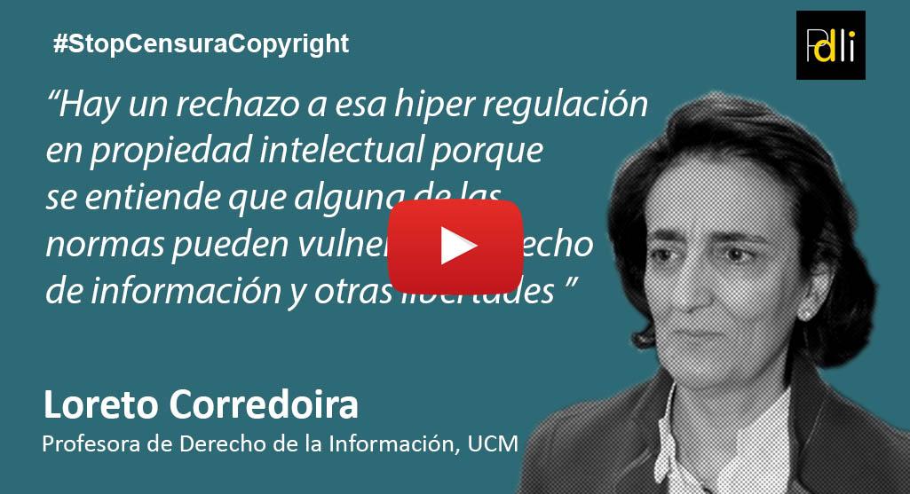 Loreto Corredoira, Profesora de Derecho de la Información [VÍDEO]